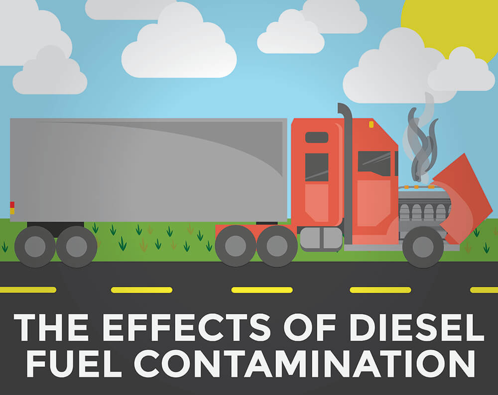 The effects of diesel fuel contamination
