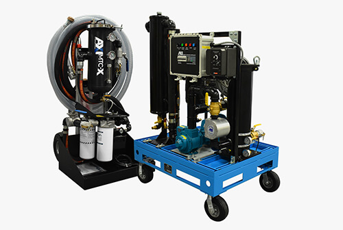 Mobile fuel polishing system cart and skid system