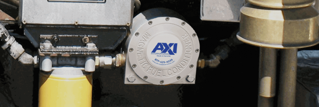 Background of image of a LG-X magnetic fuel conditioner installation
