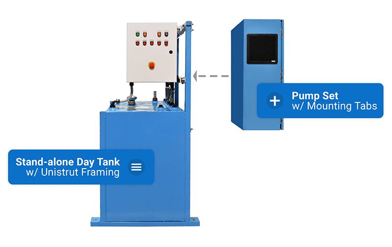 Day Tank System (DTS) Modular Pump Set Graphic