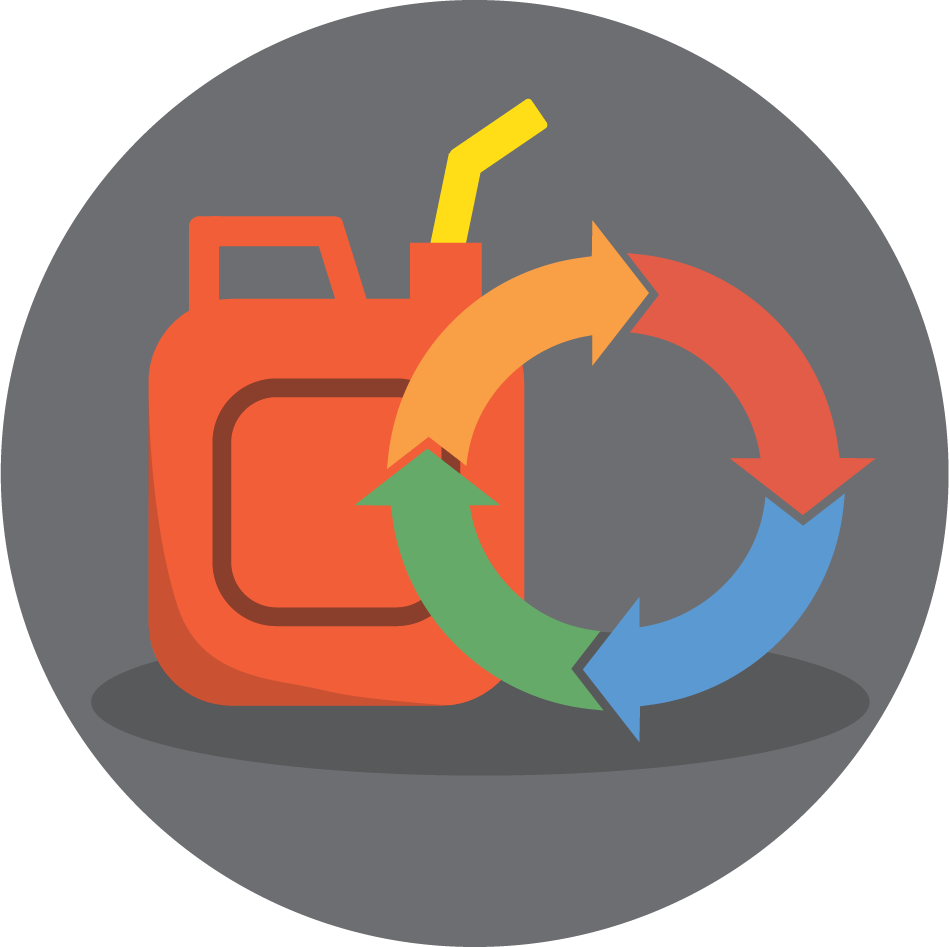 fuel maintenance cycle graphic section icon