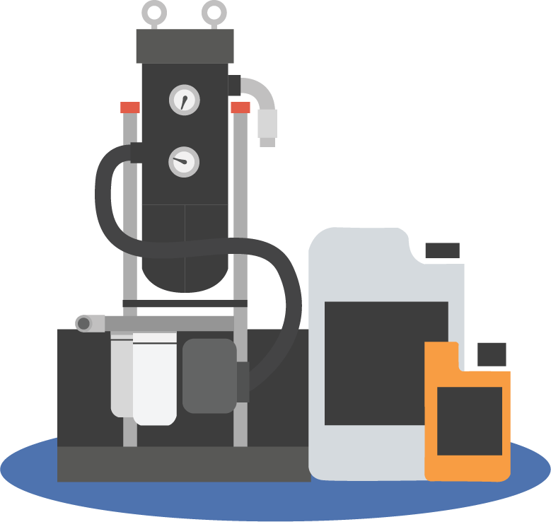 Diesel fuel cleanliness fuel polishing icon graphic