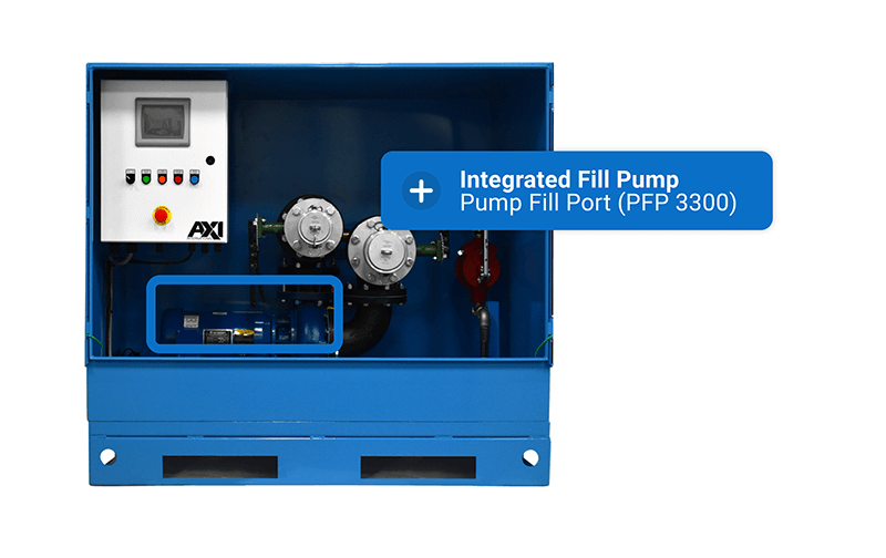 Pump Fill Port (PFP 3300) integrated fill pump graphic