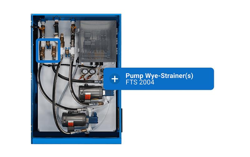 Fuel transfer system pump wye strainer