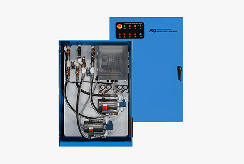 Fuel transfer system in a cabinet image